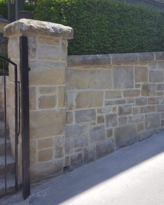 Sandstone wall repair